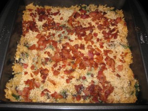 Risotto Bake with Sundried Tomotoes or Bacon